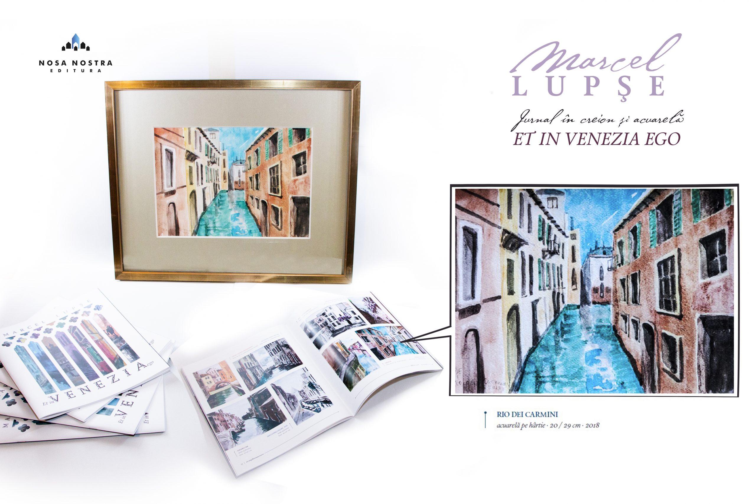 MARCEL LUPSE – Tablou RIO DEI CARMINI, acuarelă pe hârtie, înrămat, 20/29 cm – 2018